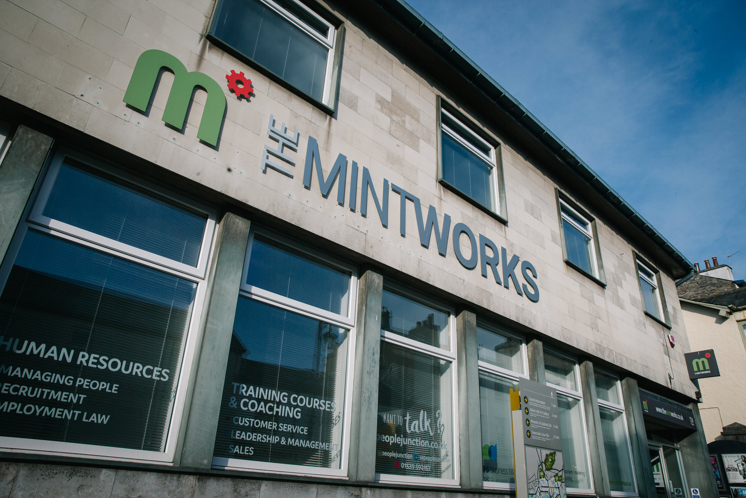The MintWorks Kendal building exterior frontage from Highgate